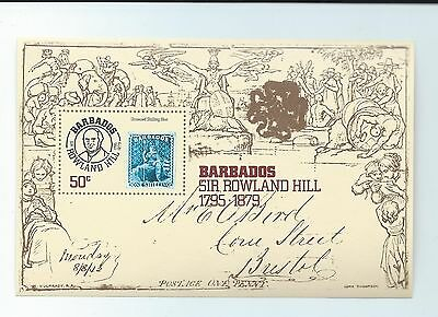 Barbados stamps. 1979 Rowland Hill minisheet MNH (S917)