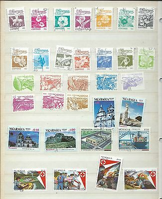 Nicaragua stamps. Stock page from 1983 of used/CTO (Y140)