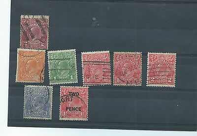 Australia stamps. George V collection w/mark multiple small crown over A. (T866)