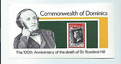 Dominica stamps. 1979 Rowland Hill minisheet MNH (S912)