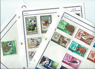 Mongolia stamps. 3 pages of mainly CTO unchecked. (X467)