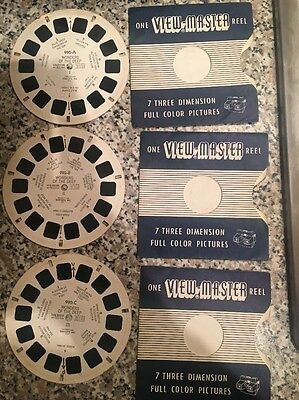 Viewmaster Wonders Of The Deep Set Of 3 ABC