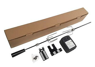 Extra Quiet Motor Bbq Barbecue Rotisserie Spit Universal Kit - 36 Inch