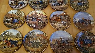 Ford Tractor Plate Collection Danbury Mint