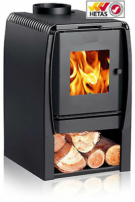Charcoal Grey N350 Wood Burning Steel Stove Fire 6.96KW Clean Burning