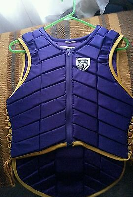 Tipperary protective riding vest, 34, xs, purple