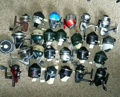 Lot of 26 cabin guest reels, Shakespeare, zebco, and more.