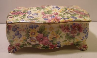 Royal Winton Grimwades Chintz Cheadle Footed Candy Box