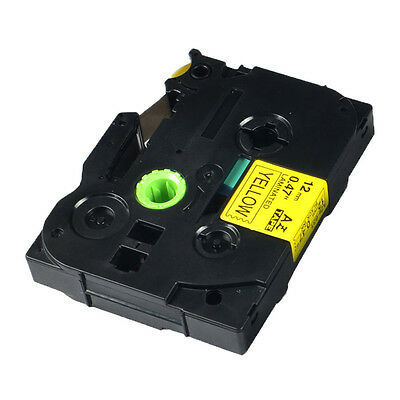 1PK 12mm Black on Yellow Label Tape For Brother P-touch TZ 631 TZe 631 PT1000