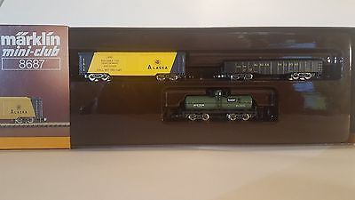 Marklin Z MINI-CLUB 8687 ALASKA RAILROAD 3 CAR SET