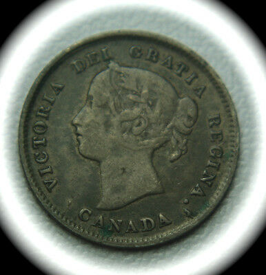 CANADA 1893 Five Cents Silver Coin - 5C - No Reserve!