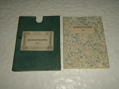 """Ordnance Shropshire Montgomery Middletown Wollaston Bausley 6"""" Cloth Map 1903"""