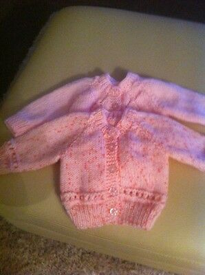 2x 0-3 Month Hand Knitted Cardigans