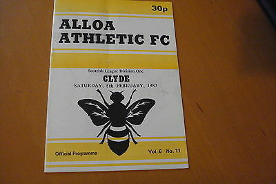 Alloa Athletic V Clyde                                                    5/2/83