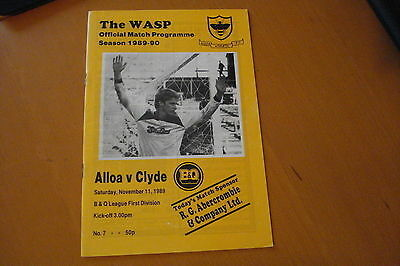 Alloa Athletic V Clyde                                                  11/11/89