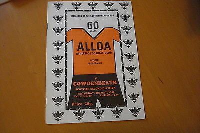 Alloa Athletic V Cowdenbeath                                              8/5/82