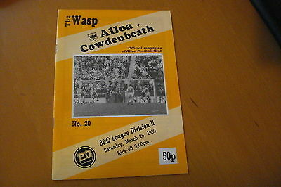 Alloa Athletic V Cowdenbeath                                             25/3/89