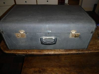 Large Authentic Overpond Vintage Suitcase
