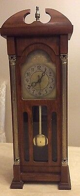 Vintage Electric Mini Grandfathers clock(United Metal MFG)Brooklyn #444.
