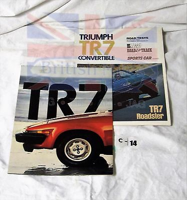 Triumph Tr7 Fold Out Road And Road And Track Test Brochures