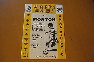 Alloa Athletic V Morton                                                 26/10/85