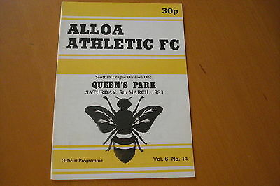 Alloa Athletic V Queens Park                                              5/3/83