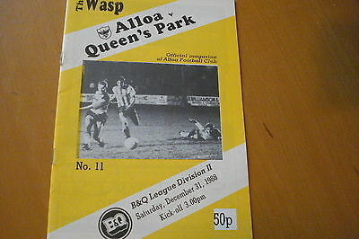 Alloa Athletic V Queens Park                                            31/12/88
