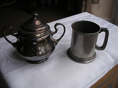 Pewter Tankard and other Object