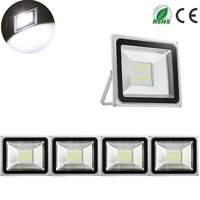 5X 100W LED Floodlight Outdoor Garden Lamps LED SMD Floodlight IP65 Cool White