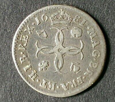1681 Charles Ii British Silver Maundy Fourpence