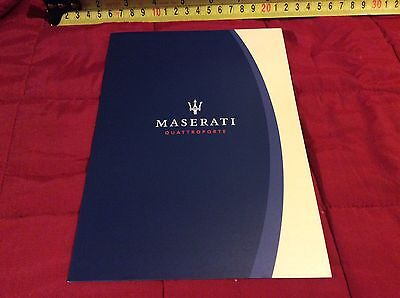 Maserati Quattroporte 2003 Tri Fold Factory Brochure  Excellent Condition
