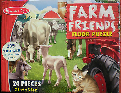 Melissa & Doug Farm Friends (#4404) 24-Piece Floor Puzzle SEALED AND New in Box!