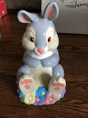 Very Rare Retired Disney Thumper Cookie Jar Bambi's Friend tnt