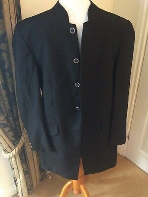 Magee Size 40R Mens Black Nero Collar Suit Jacket