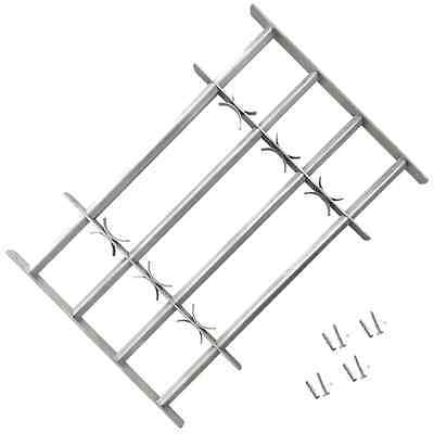 Adjustable Window Security Grilles Bars Shed Office with 4 Crossbars 500-650 mm