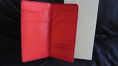 Partylite Consultant Red Travel Document Case Leather NEW in Box