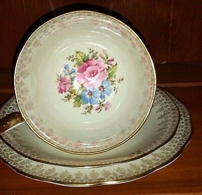 English Fine Bone China Cup - Saucer Plate Collection of 8 Triples (CSP)