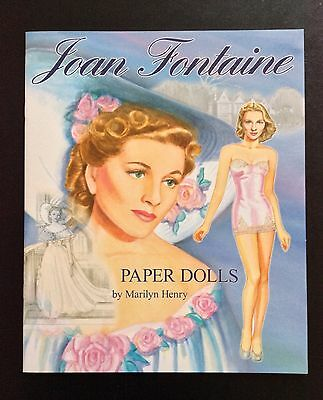 Joan Fontaine Paper Dolls Book, 8 Pages, 2013, Marilyn Henry Artist