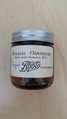 Old empty Boots of Nottingham Ointment Jar