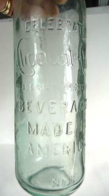"1900's  Dark Blue Embossed, ""Celebrated Clicquot-Club Beverages, Bottle. #8"