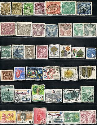 Czechoslovakia. Mixed selection of 40 used stamps