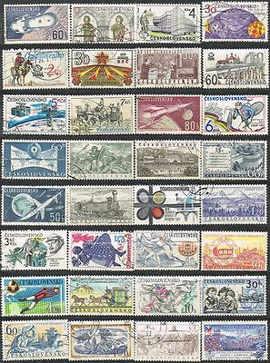 Czechoslovakia. Mixed selection of 32 used stamps.