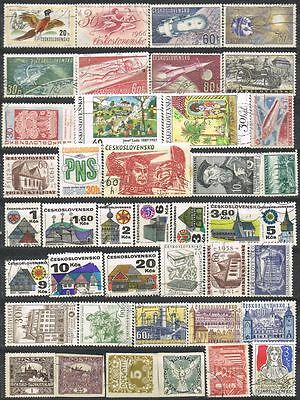 Czechoslovakia. Mixed selection of 41 used stamps