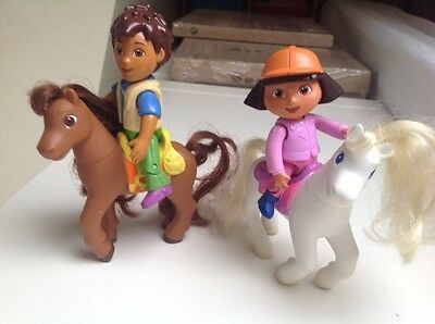 Dora the Explorer and Diego Riders Toy Bundle