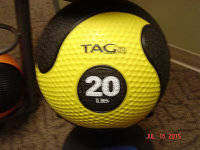 TAG Fitness 20# rubber commercial quality medicine ball med ball new