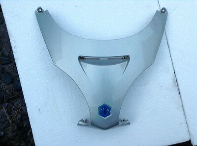 Piaggio X9 front panel between headlights in silver very good condition