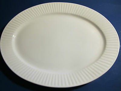 "White Oval Platter from Gibson. 14"" x 10.5"". New."
