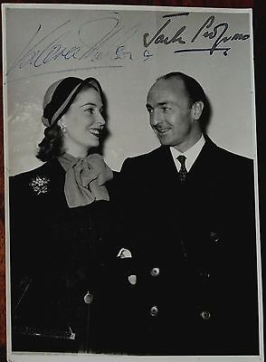 John 'Jack' Profumo And Valerie Hobson Film Star Hand Autographed Press Photo