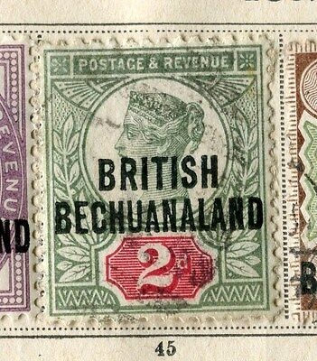 BECHUANALAND;  1892 early classic QV Optd. issue fine used 2d. value