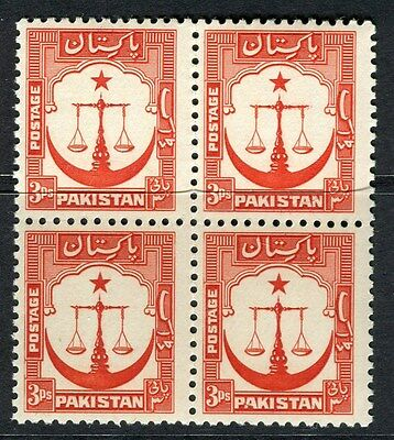 PAKISTAN;  1948 early pictorial issue MINT MNH Unmounted 3p. BLOCK
